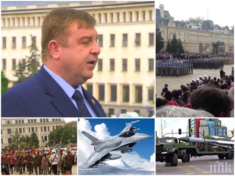 ЕКСКЛУЗИВНО: Красимир Каракачанов с гореща новина за новите изтребители! Ще подпишем ли с американците за F-16