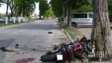 Зверска катастрофа в Бяла Слатина, моторист загина след удар в дърво