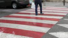 Кола помете двама души на пешеходна пътека