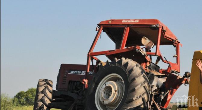 Пиян тракторист предизвика катастрофа край Добрич