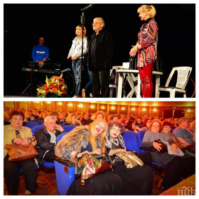 """ПИК TV: Стоянка Мутафова, Емилия Радева и Мариус Донкин аплодираха """"Две жени, без да се брои мъжът"""" на Недялко Йорданов (СНИМКИ)"""