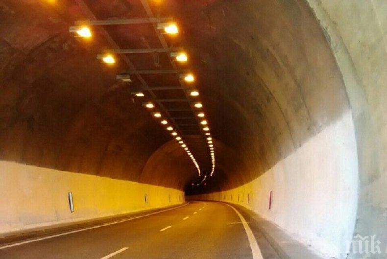 """Слагат бариери и LED осветление в тунел """"Траянови врата"""""""
