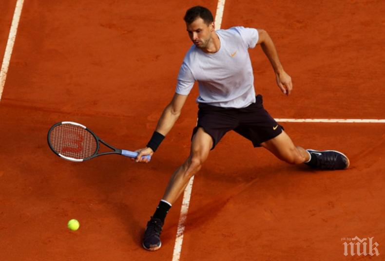 Григор Димитров започва участието си в индивидулната надпревара на турнира Рим. Ето кога е мачът му