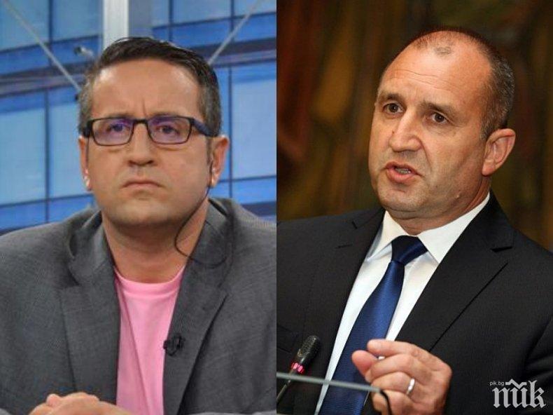 Харизанов закопа президента за срещата с Цацаров и участието му в предизборната кампания