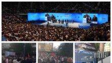 ТОТАЛЕН КРАХ ЗА БСП В БУРГАС: Тръбят за грандиозен митинг, площадът пустее - автобусите от Сливен и Ямбол отиват зян... (СНИМКИ)