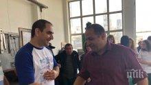 Кандидатът за евродепутат Младен Шишков се срещна с работници от рафинерия в Белозем