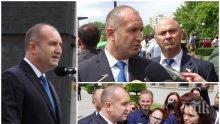 СКАНДАЛНО В БЛАГОЕВГРАД: Президентът бяга от журналисти, пиарът му лъже, а гардовете грубо избутват хората