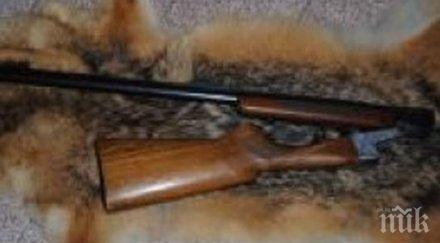 иззеха самоделна пушка частен дом село врачанско