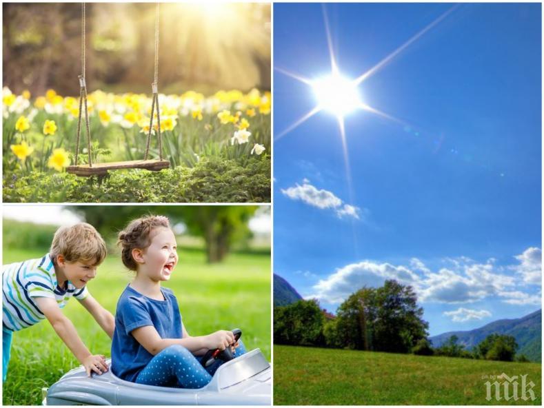 КРАЙ НА ЛОШОТО ВРЕМЕ: Започва затопляне, термометърът скача нагоре. Ето къде ще е истинско лято (КАРТА)