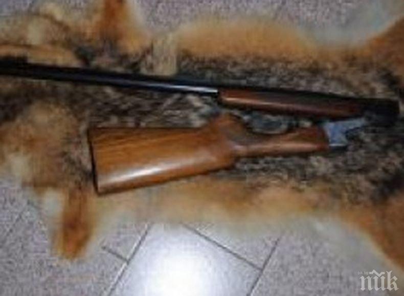 Иззеха самоделна пушка от частен дом в село във Врачанско