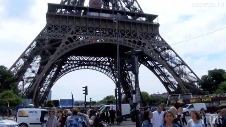 Полицията е задържала катерача, който предизвика евакуация на Айфеловата кула