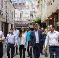 Андрей Ковачев и Ева Майдел в Пловдив: На 26 май гласувайте за европейска и демократична България