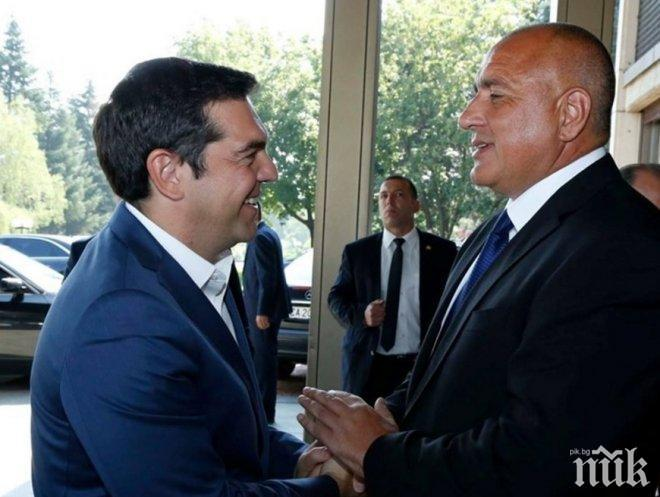 ПЪРВО В ПИК: Борисов и Ципрас стартират междусистемната газова връзка