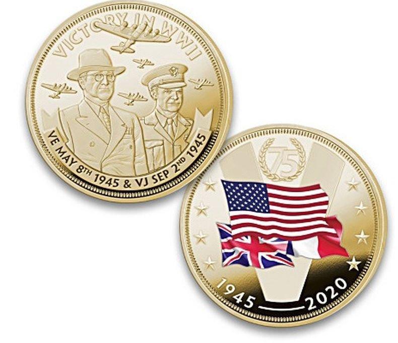 3eae11e8662 Гаф: В САЩ пуснаха юбилейна монета със съюзниците от Втората световна  война, но без