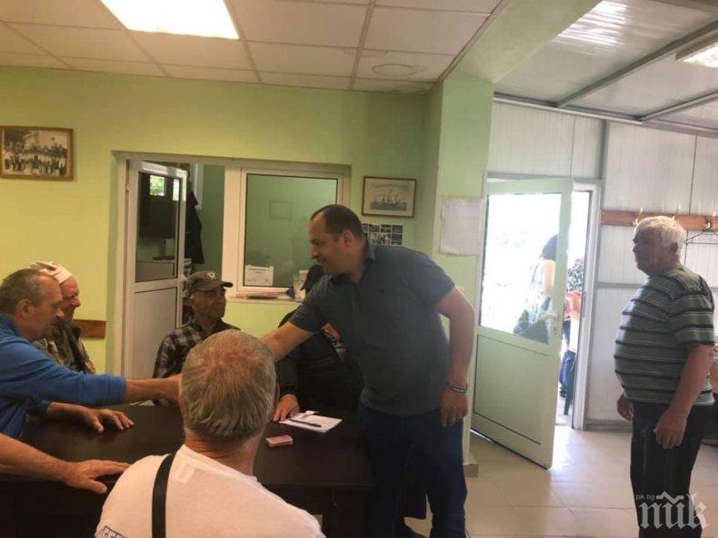 Младен Шишков пред пенсионери в селата Болярино и Белозем: Със силна  икономика, стабилност в държавата и правителство на Бойко Борисов -  пенсиите ще растат