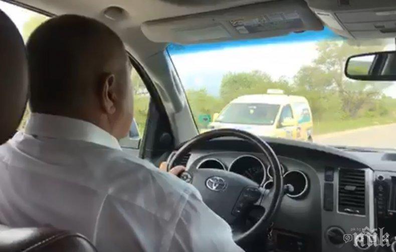 """ПЪРВО В ПИК TV: Премиерът Борисов и Нанков на път - проверяват строежа на магистрала """"Европа"""" (ОБНОВЕНА)"""