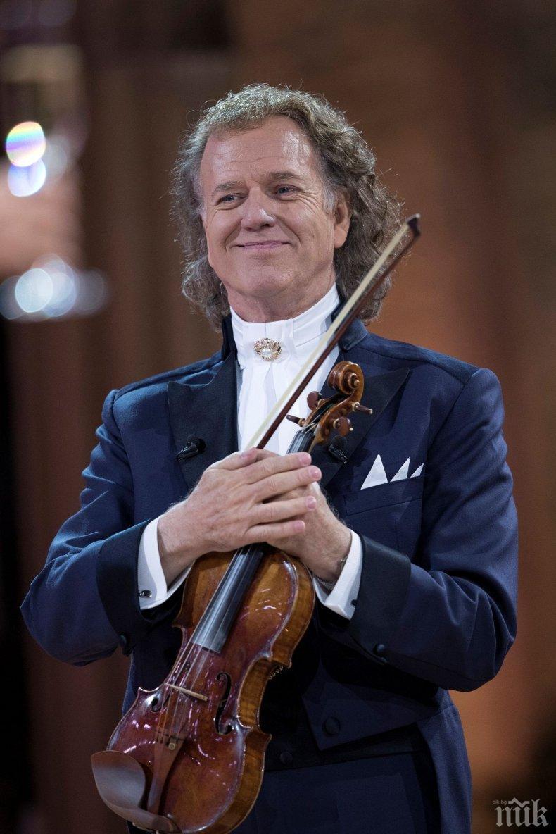 Световноизвестният цигулар Андре Рийо прави подарък на България за 24 май