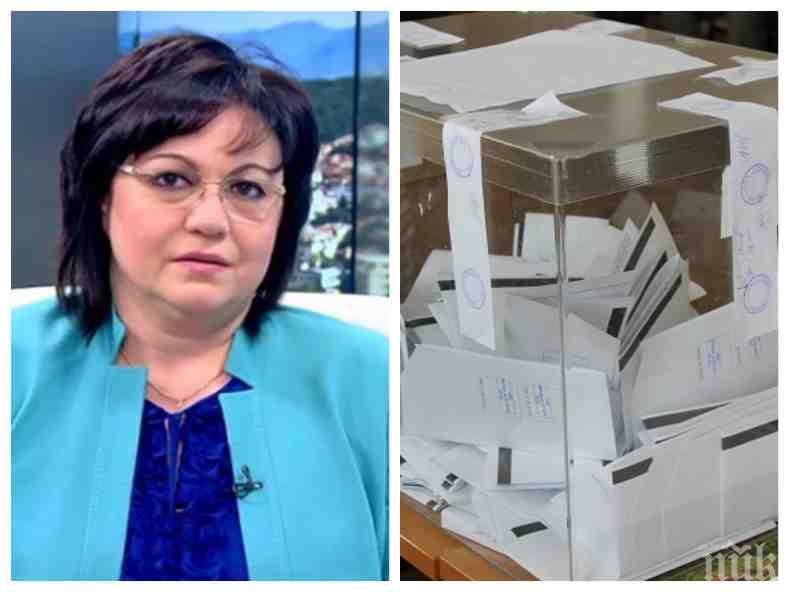БОМБА В ПИК: Корнелия Нинова с чудовищна манипулация - БСП саботират изборите в неделя, скриха хората си от комисиите и няма да подписват протоколи!