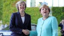 Меркел се закани: Германия ще продължи да работи за подреден Брекзит