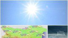 ЛЯТОТО НАСТЪПВА: Днес ще е много топло, но след обяд тъмни облаци надвисват над страната (КАРТА)