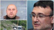 САМО В ПИК: Шефът на МВР Младен Маринов поздравява полицаите след тежката акция за обезвреждането на кървавия килър Стоян Зайков - униформените дебнали Чане в района от седмица