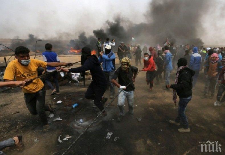 Най-малко 11 души пострадаха при сблъсъци в Ивицата Газа
