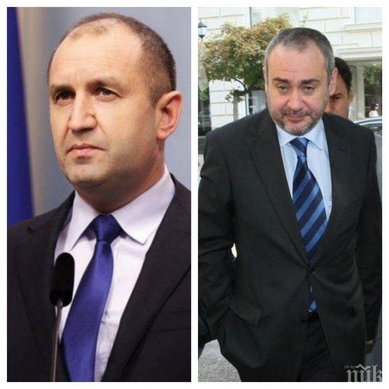 "САМО В ПИК: Румен Радев ""играе"" за главен прокурор чрез Борис Велчев!"