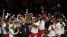 Торонто спечели титлата в НБА! Съдбата обърна гръб на Голдън Стейт - за първи път трофеят напуска САЩ