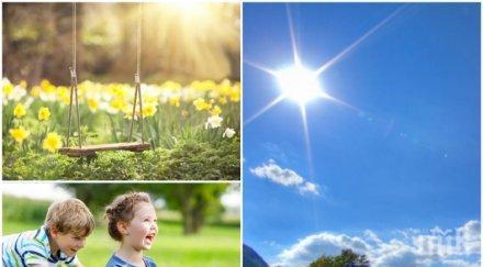 ЛЯТНО ВРЕМЕ: Слънчево и горещо, но... следобед ще вали. Ето къде (КАРТА)