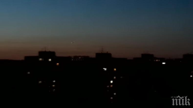 НАШЕСТВИЕТО ЗАПОЧНА: Уфолог снима летяща чиния над Самара (ВИДЕО)