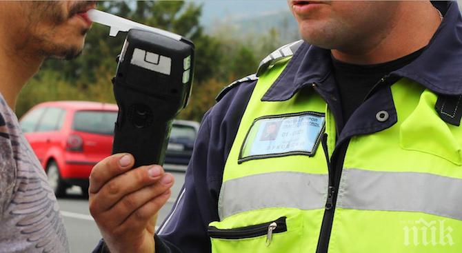 """Над 210 пияни шофьори спипа """"Пътна полиция"""" след акция"""