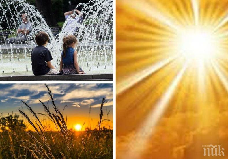 УСЕЩАНЕ ЗА ЛЯТО: Жегите дойдоха - слънчево и горещо с температури до 35 градуса, ето къде ще е най-топло (КАРТА)