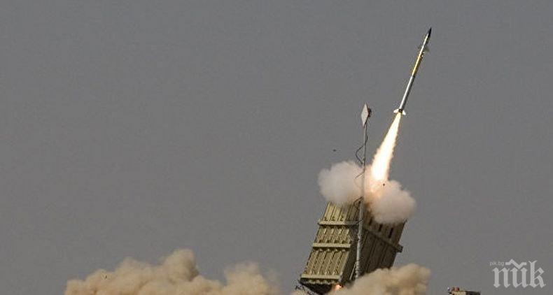 Израелски военни съобщиха за прихваната ракета, изстреляна от Ивицата Газа
