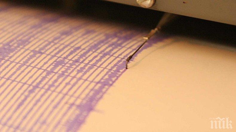 Земетресение с магнитуд 4 по Рихтер бе регистрирано в Гърция