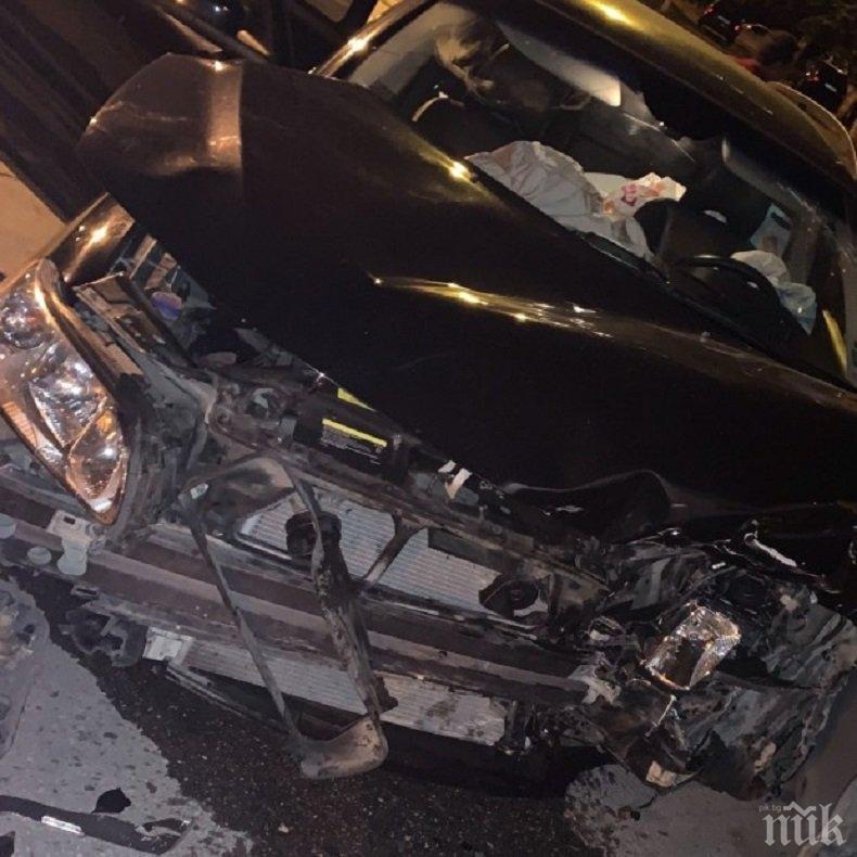 Мъртвопиян шофьор помля четири коли във Варна