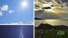ГОРЕЩО: Жегите не спират днес, но и бурите продължават - ето къде (КАРТА)