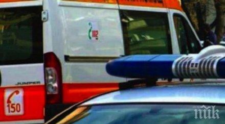 """ИЗВЪНРЕДНО: Шофьор и двама пътни работници пострадаха при катастрофа на """"Тракия"""""""