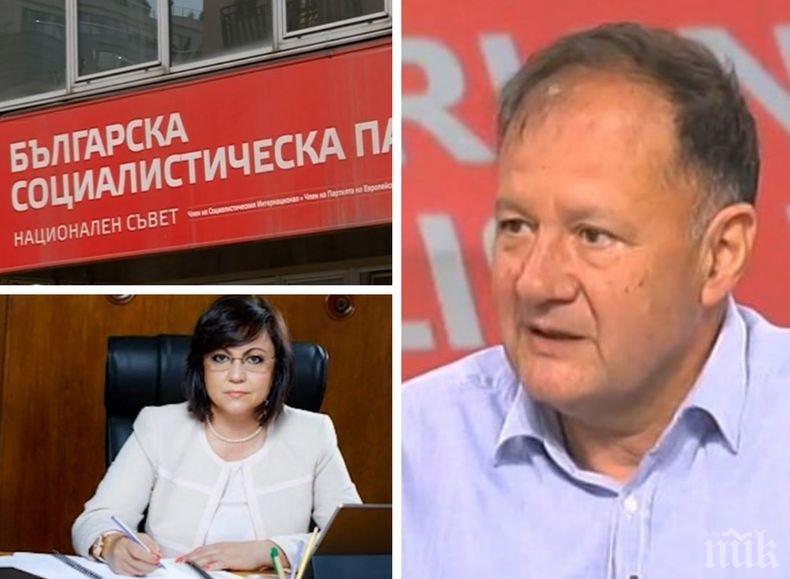 СБЛЪСЪК В ЛЯВО: Михаил Миков изригна преди червения конгрес: Ще е смешно, ако Корнелия Нинова си оттегли оставката. Драматизмът има риск да премине към водевил и фарс