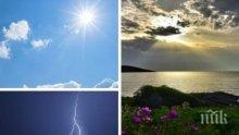 КАПРИЗИ НА ВРЕМЕТО: Слънце ще грее над цяла България, но следобед ще е страшно (КАРТА)