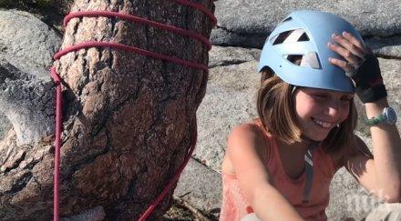 НЕЧУВАНО: 10-годишно момиче покори една от най-високите отвесни скали в света (ВИДЕО)