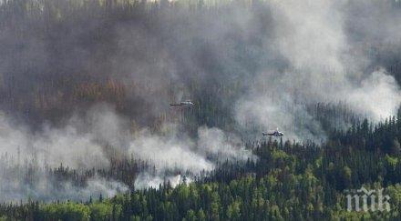Над 9 000 души са били евакуирани заради горски пожари в Канада