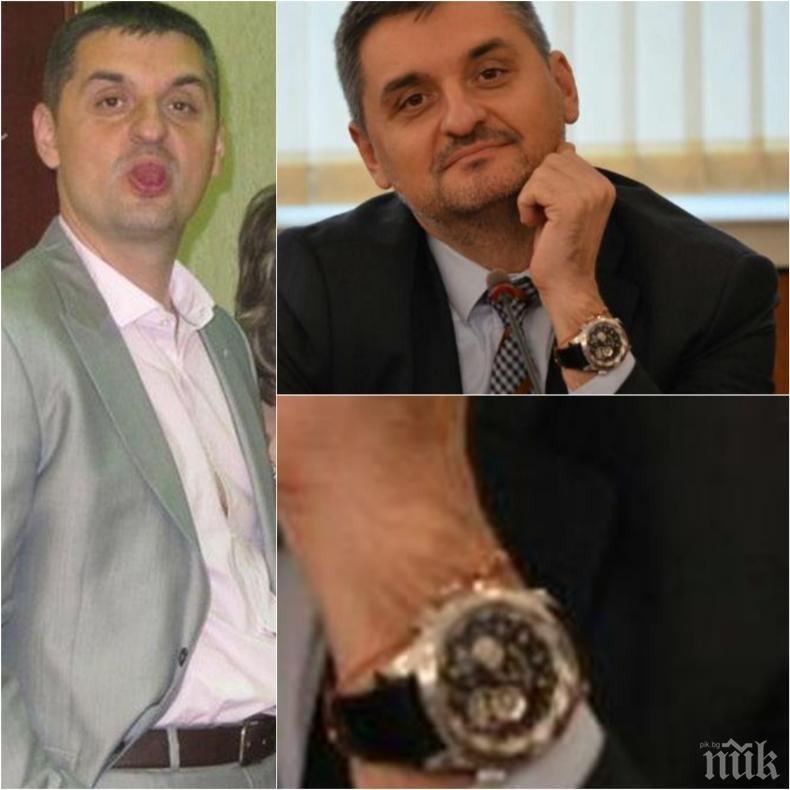 САМО В ПИК: Кирил Добрев показа свян - свали баровския часовник за 20 бона, замени го с кръст (СНИМКИ)