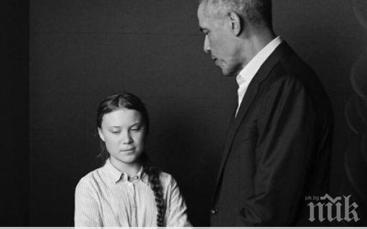 Снимка на Барак Обама с момиче, страдащо от аутизъм, трогна света