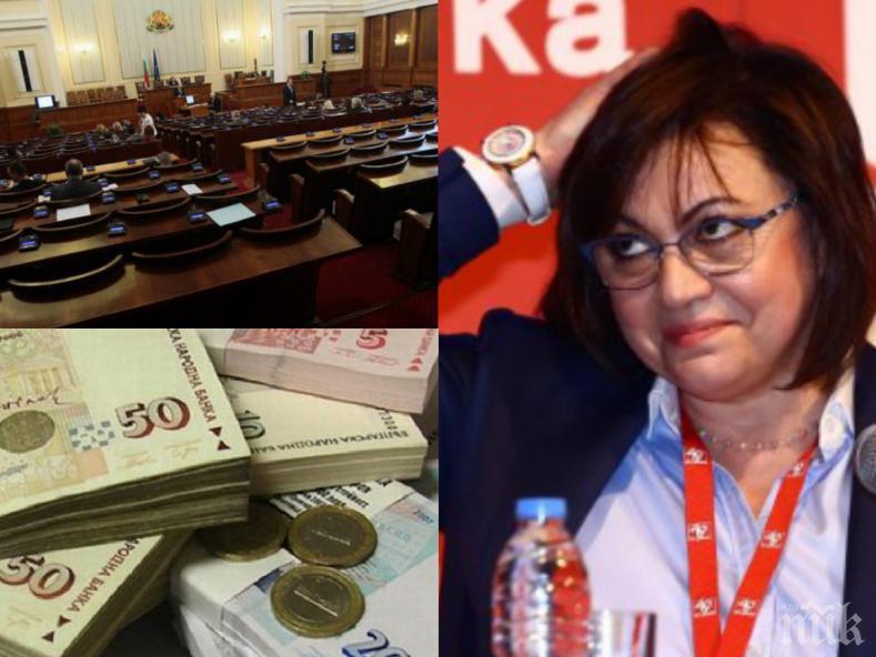 САМО В ПИК: Лъсна сметката на Корнелия Нинова - храни апарат от 151 души с близо 2 милиона държавна пара, лапнала 300 бона от частни лица (ДОКУМЕНТИ)