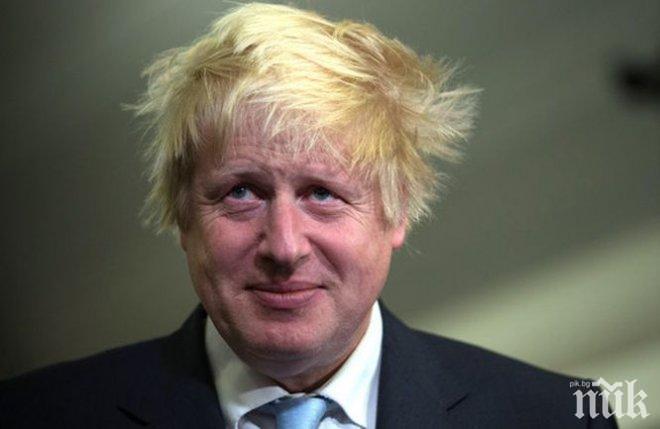 """Борис Джонсън призова британците да не се страхуват от """"твърд"""" Брекзит"""