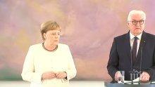 КАКВО СЕ СЛУЧВА С МЕРКЕЛ? Германският канцлер трепери и се тресе страшно (ШОКИРАЩО ВИДЕО)