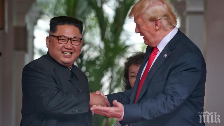 Доналд Тръмп за срещата си с Ким Чен-ун: Това е велик ден за света