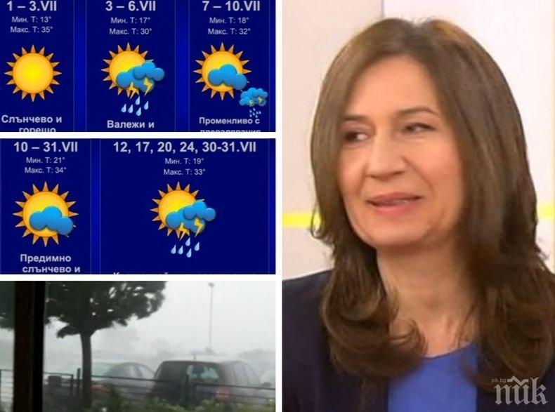 АПОКАЛИПСИС СЕГА: Метеорологът Анастасия Стойчева разкри ще се пренесе ли адската горещина от Европа и у нас, ще спрат ли пороите през юли