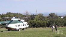 Каракачанов кацна с хеликоптер на полигона в Црънча