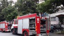 ОТ ПОСЛЕДНИТЕ МИНУТИ: Кола пламна като факла в центъра на Бургас (ВИДЕО)